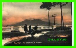 NAPOLI, IT - VIA LITYORANEA E VESUVIO - ANIMATED - - Napoli (Naples)