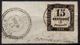 FRANCE - 15 C. Oblitéré Sur Fragment - Postage Due