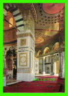 JERUSALEM, ISRAEL - VIEW INSIDE THE MOSQUE OF THE DOME OF THE ROCK - - Israel