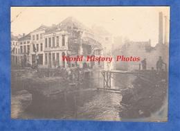 Photo Ancienne D'un Poilu - AUDENARDE (Belgique) - Reconstruction D'un Pont Par Les Américains - WW1 AEF Génie US ARMY - Guerra, Militari