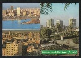Saudi Arabia Old Picture Postcard Jeddah 3 Scene View Card - Arabie Saoudite