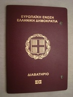 Greece Biometric Passport Reisepass Passeport With USA Visa, Japan Inspection And Many Ink Stamps - Documents Historiques