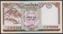 Nepal 10 Rupees 2012 P70 UNC - Népal