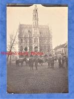 Photo Ancienne D'un Poilu - AUDENARDE (BELGIQUE) - Soldats Américains Devant L' Hôtel De Ville - WW1 AEF Génie US ARMY - Guerra, Militari