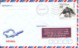 Vietnam Air Mail Cover 4-7-1998 Single Stamped BIRD - Viêt-Nam