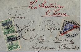 1914 , LIBERIA , MONROVIA - HAMBURGO , RARO SOBRE CIRCULADO VIA FREETOWN - SIERRA LEONA , FR. YV. 97 X 2 , 111 - Liberia