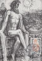 Carte   Maximum  FRANCE   Hommage  à  DECARIS    NIMES   1988 - Postmark Collection (Covers)
