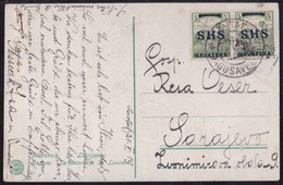 Cavtat, Picture Postcard (2 Pinholes), Franked With 10 Fil, Sent To Sarajevo (May 1919) - Storia Postale