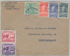 1930 , CONGO BELGA , THYSVILLE - BRATISLAVA ( CHECOSLOVAQUIA ) , SOBRE CIRCULADO, BONITO FRANQUEO - Congo Belga