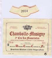 """Etiquette Et Millésime """" CHAMBOLLE-MUSIGNY 1er Cru 2014 Les Feusselottes """" Christian Confuron (2850)_ev386 - Bourgogne"""