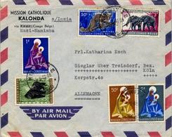 1960 , CONGO BELGA , KIKWIT - SIEGLAR , MISIÓN CATÓLICA DE KALONDA , CORREO AÉREO - Congo Belga
