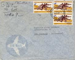 1964 , REPÚBLICA DEL CONGO , LEOPOLDVILLE - SOLINGEN , SOBRE CIRCULADO - République Du Congo (1960-64)