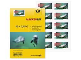 Z07 Germany BRD 2019 Mi 3436 Schweinswal Harbor Porpoise Full Sheet MNH Stickers - BRD