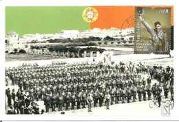 Faro - Algarve - Portugal Postal Máximo Parada Militar Junto Quartel Infantaria Maximum Maxicard 1st War WW1 - Cartes-maximum (CM)