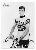 CARTE CYCLISME PAUL CRAPEZ TEAM NOVY DUBBLE BUBBLE 1972 - Cyclisme