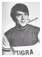 CARTE CYCLISME R. TRINKLER TEAM TIGRA 1972 - Cyclisme