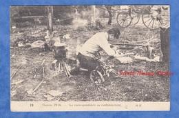 CPA - Correspondance Au Cantonnement - Poilu écrivant à Ses Proches Cachet Franchise Postale 44e Infanterie Territoriale - War 1914-18