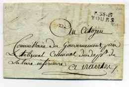 P36P TOURS  / Tribunal Criminel Du Dept Indre Et Loire / 12 Fructidor An 8 - Marcophilie (Lettres)