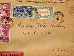 AVIATION - Enveloppe Par Avion POINTE-À-PITRE Guadeloupe Pour COURBEVOIE - 1936 - 2 Scans - Aviation