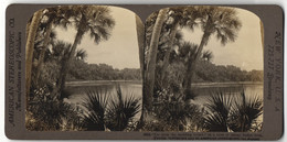 Stereo-Fotografie American Stereoscopic Co., Ansicht Far From The Madding Crowd, Stiller Fluss In Indien - Photos Stéréoscopiques