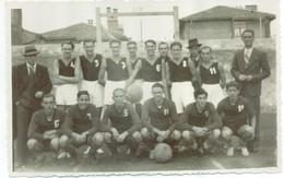 FIUME - Equipe Football 1937 - RPPC - Carte Photo Véritable - Kroatien