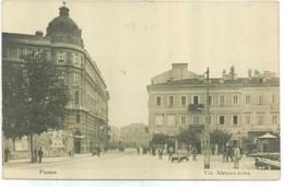 FIUME - Via Alessandrina - 1906 - RPPC - Kroatien