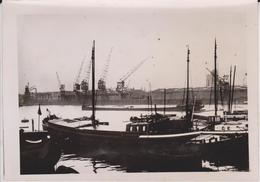 ROTTERDAM MASSHAVENS WERK ENGLISCHER BLOCKADE     KRIEGSMARINE FOTO DE PRESSE WW2 WWII WORLD WAR 2 WELTKRIEG - Barcos