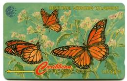 BVI-67B - BVI Wild Life - Butterflies (67CBVB - Dashed Zero) HEAVLY USED! - Maagdeneilanden