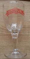 VIEUX VERRE BOUSVAL ROUGE (marquer A L'acide) - Glasses