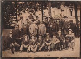 ** PHOTOGRAPHIE ** Cirque PLEGE - La Troupe Photographiée à AMIENS 1896  (archives D'Origine Famille Piege ) - Fotos