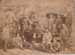 ** PHOTOGRAPHIE ** Cirque PLEGE - La Troupe Photographiée à ANVERS En 1887   (archives D'Origine Famille Piege ) - Photographs