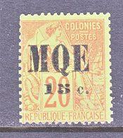 MARTINIQUE  4  Perf.  14 X 13 1/2   *  No Gum - Martinique (1886-1947)