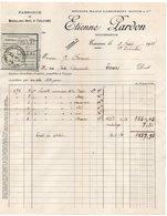 1938-Mousselines-Tarlatanes--TARARE-69 --Facture ETIENNE LARDON-Ancienne Maison Lassonnery-Mottin & Cie - Textile & Vestimentaire