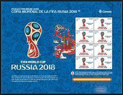 ESPAGNE SPANIEN SPAIN ESPAÑA 2018 FIFA FOOTBALL WORLD CHAMPION RUSSIA PREMIUN PANE(62) MNH ED 5232 MI 5261 YT 4965 SC 42 - 2011-... Unused Stamps