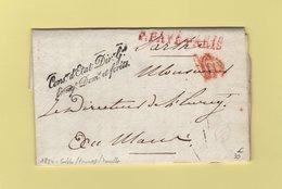 Franchise - Conseiller D Etat Directeur General Enregistrement Domaines Et Forets - 1824 - Sarthe Fresnay - Storia Postale