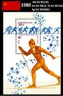 UdSSR 1980 Langlaufen. Postblock Mi: SU BL143, Sn: SU 4812, Yt: SU BF142, Sg: SU MS4961 - 1923-1991 UdSSR