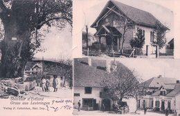 Evilard, Gruss Aus Leubringen, Funiculaire, Bureau De Poste, Diligence, Attelage (9.8.1906) - BE Berne