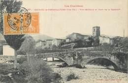 """/ CPA FRANCE 66 """"Caudiès De Fenouillèdes, Vue Générale Et Pont De La Garrigue"""" - Autres Communes"""