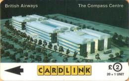 United Kingdom - GPT, 7CLKA, British Airways Compass Centre, Airlines, 20+1 U, 10,000ex, Used - Ver. Königreich