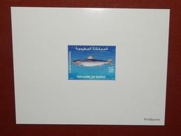 MAROKKO MOROCCO MARRUECOS  MAROC POISSON FISH SARDINA PILCHARDUS  EPREUVE DE LUXE ( DELUXE PROOF ) 2006 - Marruecos (1956-...)