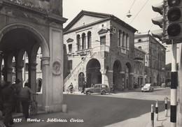 MESTRE-VENEZIA-BIBLIOTECA CIVICA-CARTOLINA VERA FOTOGRAFIA-VIAGGIATA ? NO OBLITERAZIONE-BOLLO DA LIRE 25-ANNO 1955-960 - Venezia
