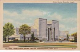 Texas Waco Grand Lodge Memorial Temple Curteich - Waco