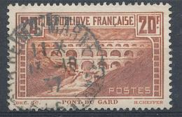 N°262 PONT DU GARD NUANCE ET OBLITERATION. - France