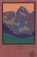 BOZEN-BOLZANO-DOLOMITI-GRAN VERNEL-CARTOLINA NON VIAGGIATA-DATATA AL RETRO 25-8-1927-PENSIERO AMOROSO AL RETRO- - Bolzano (Bozen)