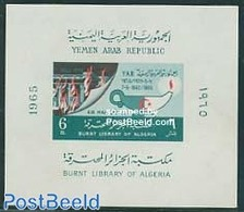 Yemen, Arab Republic 1965 Fire In University Library Algiers S/s, (Mint NH), Transport - Fire Fighters & Prevention - Ar - Stamps