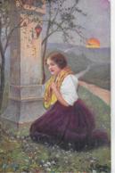AK 0110  Klimes , Fr. - Von Allen Übel Erlöse Uns , O Herr ! / Künstlerkarte Um 1916 - Malerei & Gemälde