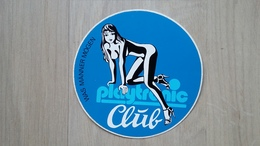 Aufkleber Mit Werbung Für Einen Herren-Club - Aufkleber