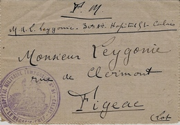 """1917- Carte-lettre En F M De """" HOPITAL MILITAIRE TEMPORAIRE  N° 51- CALAIS """" - Postmark Collection (Covers)"""