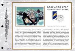 """"""" J.O. DE SALT LAKE CITY """" Sur Feuillet CEF N°té En SOIE De 2002. N° 1582s N° YT 3460 Parfait état FDC - Winter 2002: Salt Lake City"""