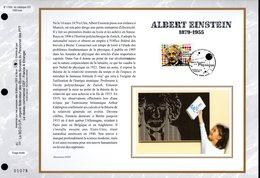 """"""" ALBERT EINSTEIN """" Sur Feuillet CEF N°té En SOIE De 2005. N° 1763s N° YT 3779 Parfait état FDC - Albert Einstein"""